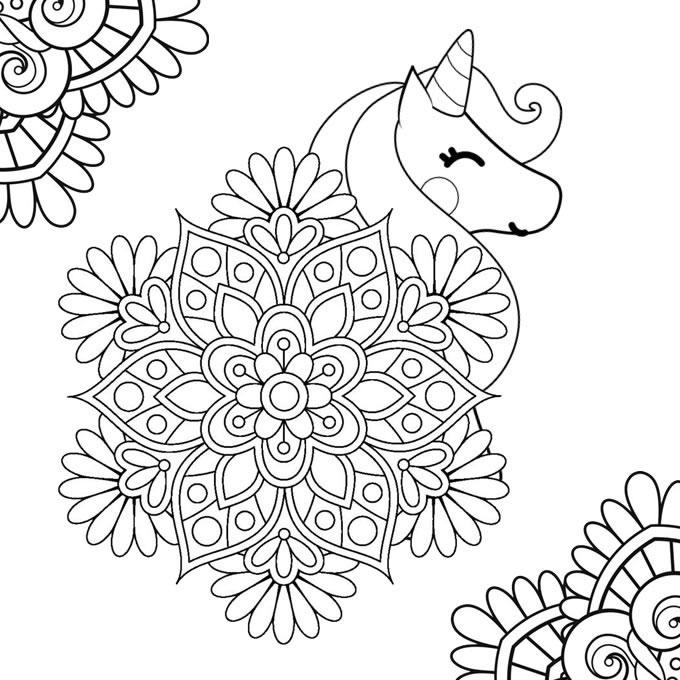 Mandalas De Unicornio gratis