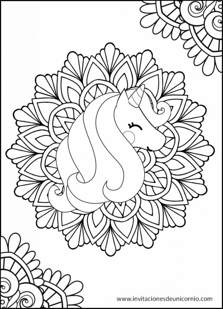 Mandalas De Unicornio Para Colorear