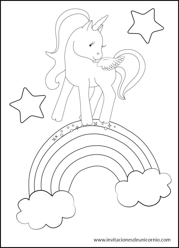Dibujos para Colorear de Unicornios