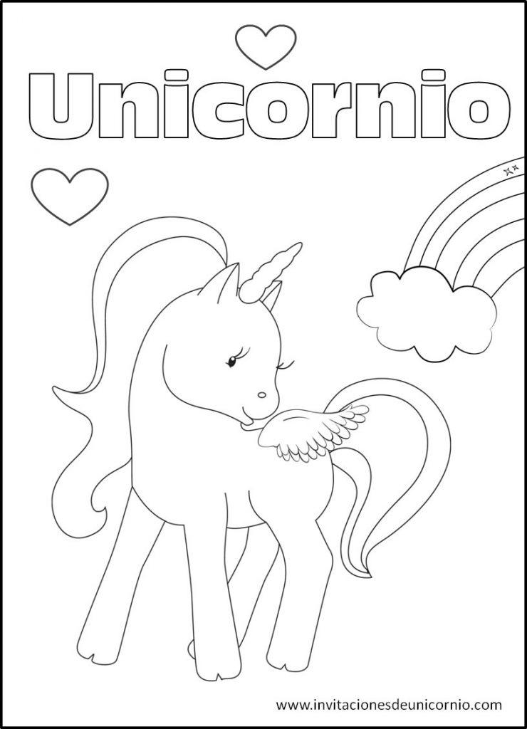 Imágenes de Unicornios para colorear